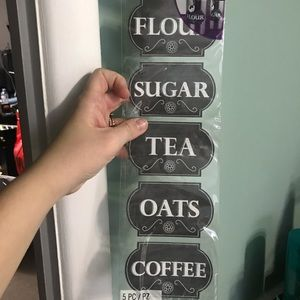 Other - FREE W ANY PURCHASE Canister Labels